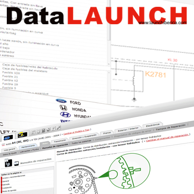launch splash Base de datos técnica para automoción Data LAUNCH